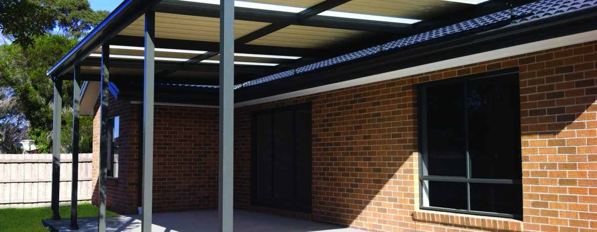 flat roof verandah on extenda brackets